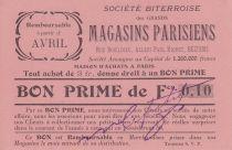 France 10 centimes Béziers Bon prime remb.à partir d avril