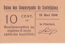 France 10 centimes Casteljaloux City