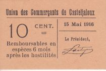 France 10 centimes Casteljaloux Union des Commerçants