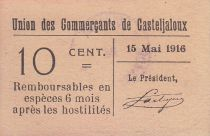 France 10 centimes Casteljaloux Union des Commerçants