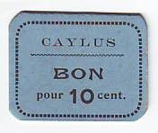 France 10 Centimes Caylus