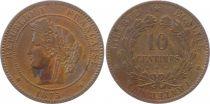 France 10 Centimes Cérès - Troisième République - 1875 K