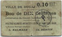 France 10 centimes Douai Ville - 1915