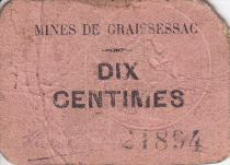 France 10 centimes Graissessac Mines de Graissessac