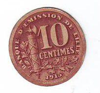 France 10 Centimes Lille Banque d´émission
