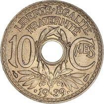 France 10 Centimes Lindauer - Point avant et après la date - 1939