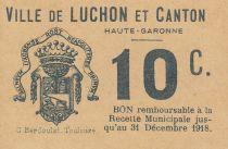 France 10 centimes Luchon Emission Municipale