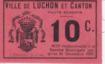 France 10 centimes Luchon Emission Municipale
