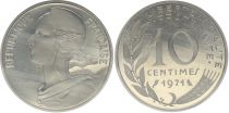 France 10 Centimes Marian - 1971 Piefort Silver - UNC