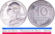 France 10 Centimes Marian Piéfort 1980 - Silver