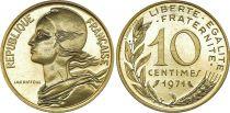France 10 Centimes Marianne - 1971 issu de coffret BU