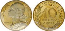 France 10 Centimes Marianne - 1974 issu de coffret BU