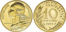 France 10 Centimes Marianne - 1983 issu de coffret BU