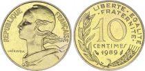 France 10 Centimes Marianne - 1989 issu de coffret BU