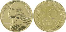 France 10 Centimes Marianne - 2001 Frappe BU