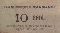 France 10 centimes Marmande Union du Commerce