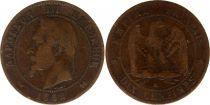 France 10 Centimes Napoleon III Laureate head - 1862 K Bordeaux