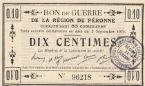 France 10 Centimes Péronne