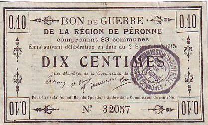 France 10 Centimes Péronne