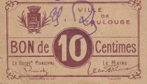France 10 centimes Toulouse City