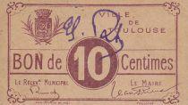 France 10 centimes Toulouse Emission Municipale