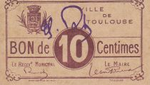 France 10 centimes Toulouse Emission Municipale