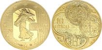 France 10 Euros Gold  - Semeuse Franc 2015  - Proof  - without boxe and without certificat