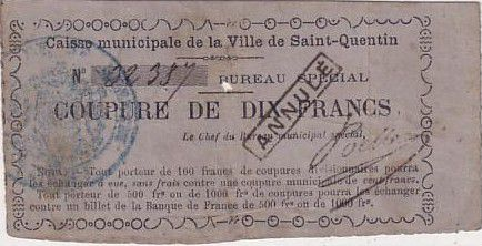 France 10 F - Cancelled - 1870