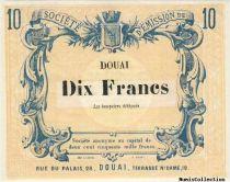 France 10 F , Douai Société d´émission,non émis