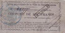 France 10 F , Saint-Quentin Caisse Municipale, émis tampon Annulé