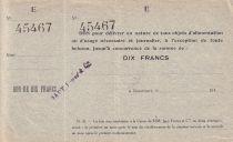 France 10 F Beaucourt Annulé