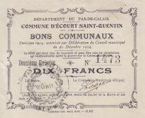 France 10 F Ecourt-Saint-Quentin émis 1914