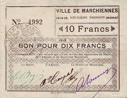 France 10 F Marchiennes