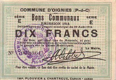 France 10 F Oignies