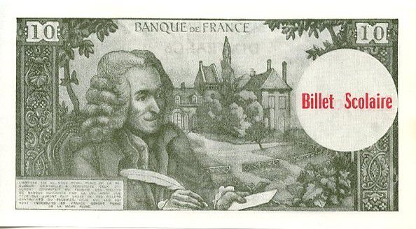 France 10 F Voltaire (green) - 1963