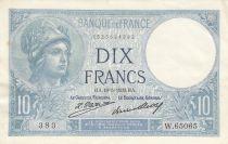 France 10 Francs - 19-05-1932 - Serial W.65065 - XF + to AU