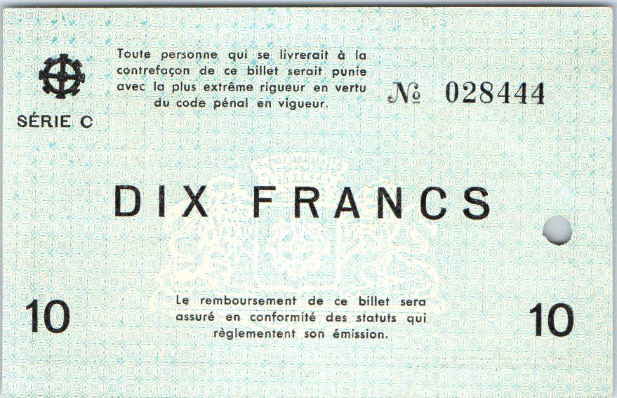 Billet france 10 francs mulhouse chambre de commerce - Chambre des commerces mulhouse ...