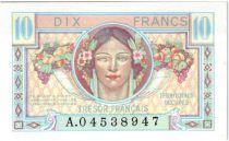 France 10 Francs , Trésor Français - 1947 - Série A.04538947