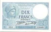France 10 Francs  1930 - Série Y.55429 - Minerve
