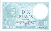 France 10 Francs  1939 - Série H.69003 - Minerve