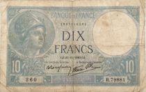 France 10 Francs  Minerva 21-11-1940 - Serial R.79881 - F