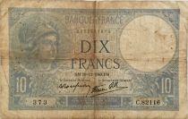 France 10 Francs  Minerva 26-12-1940 - Serial C.82116 - F