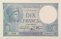 France 10 Francs  Minerve 02-01-1941 - Série V.83102 - TTB+