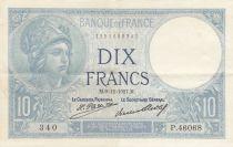 France 10 Francs  Minerve 09-12-1927 - Série P.46068 - SUP