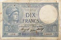 France 10 Francs  Minerve 17-12-1936 - Série C.68030 - PTB