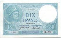 France 10 Francs 1917 - Serial H.4766 - Minerva
