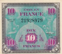 France 10 Francs Allied Military Currency - Flag - 1944 - aUNC