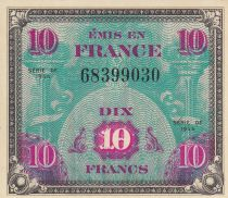 France 10 Francs Allied Military Currency - Flag - 1944  Without serial 68399030