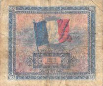 France 10 Francs Allied Military Currency (Flag) - 1944 No Serial - F