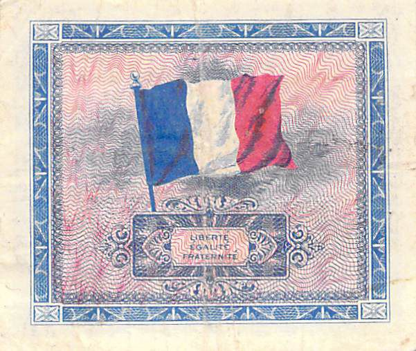 France 10 Francs Allied Military Currency (Flag) - 1944 No Serial - VF